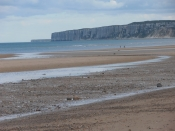 Filey beach towards Speeton Cliffs